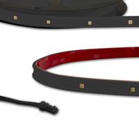LED UV-C MiniAMP Flexband 270nm, zur Flächendesinfekton, IP54, 12V DC, 12W, einseitig Kabel mit male-Stecker, 116cm, schwarz