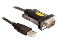 DeLOCK 61856 Serien-Kabel Schwarz 1,5 m USB Typ-A DB-9