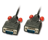 Lindy 5m HD15 VGA-Kabel VGA (D-Sub) Schwarz