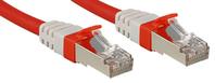 Lindy Cat.6 (A) SSTP / S/FTP PIMF Premium 0.3m Netzwerkkabel Rot 0,3 m