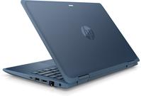 "HP ProBook x360 11 G5 EE DDR4-SDRAM Hybride (2-in-1) 29,5 cm (11.6"") 1366 x 768 Pixels Touchscreen Intel® Celeron® 4 GB 128 GB SSD Wi-Fi 5 (802.11ac) Windows 10 Pro Blauw"