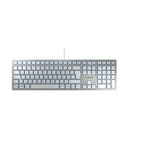 CHERRY Tastatur KC 6000 Slim - Layout Deutschland silber ,weiß