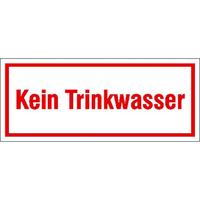 Modellbeispiel: Hinweisschild zur Betriebskennzeichnung, Kein Trinkwasser, (Art. 21.5385)