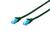 CAT 5e U-UTP patch cable. PVC. AWG 26/7. Length 1m. color green