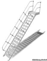 LM-Treppe Plattf. 45° SB.600 1x17 Stu.