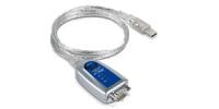 Moxa UPort 1110 Serien-Kabel Silber USB Typ-A DB-9