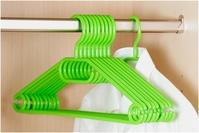 KESPER Kleiderbügel, 10 Stück/Pack, aus Kunststoff, Farbe: grün