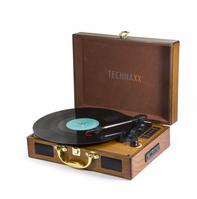 Technaxx TX-101 Audio-Plattenspieler mit Riemenantrieb Braun