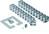 Kabelschlange Quadro-Set silber 930.017