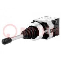 Schalter: Joystick; Stab.Pos: 1; NO x2; 3A/240VAC; 0,55A/125VDC