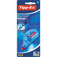 Korrekturroller Pocket Mouse, 4,2 mm x 10 m, blau, transparent