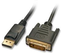 Lindy 5m DisplayPort/DVI Cable DVI-D Schwarz