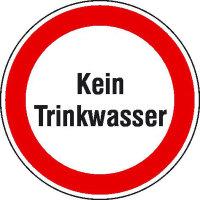 Kein Trinkwasser Hinweisschild zur Betriebskennzeichnung, selbstkl. Folie ,20cm