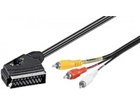 Scart - 3xRCA 3m In/Outwith IN/OUT switch Scart