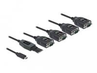 DeLOCK 90495 Serien-Kabel Schwarz 0,63 m USB Type-C RS-232 DB9