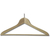 Produktbild zu Kleiderbügel Osiris 2 mit Hotelstift und Hosensteg, Buche lackiert