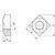 Skizze zu DIN557/ 5 M10 verzinkt Vierkantmutter