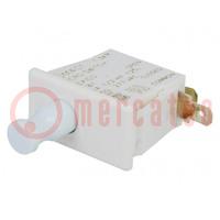 Schalter: für Türen; Pos: 2; SPDT; 10A/250VAC; weiss; Auf: 28,4x14mm