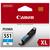 Canon CLI-551C XL, XL-Tintentank Cyan