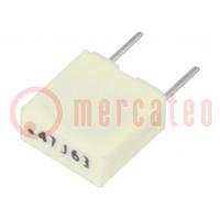 Kondensator: Polyester; 470nF; 40VAC; 63VDC; Rastermaß: 5mm; ±5%