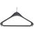 Produktbild zu Kleiderbügel Osiris 1 mit Hotelstift, Hosensteg und 2 Rockhakerl, KS schwarz