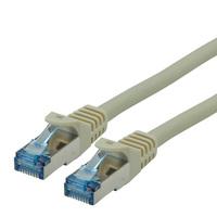 ROLINE Patchkabel Kat.6A S/FTP (PiMF), Component Level, LSOH, grau, 1,5 m